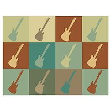 Guitar Pop Art Poster