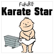 Future Karate Star Framed Nursery Print Poster