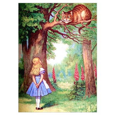 ALICE & THE CHESHIRE CAT Poster