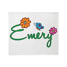 Emery Flowers Throw Blanket
