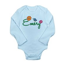 Emery Flowers Long Sleeve Infant Bodysuit