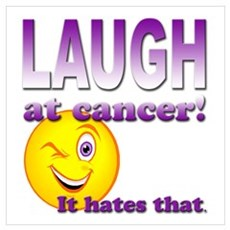 Laugh at Cancer Canvas Art