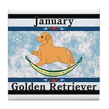 Golden Retriever Calendar Dog Tile Coaster