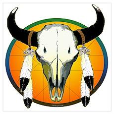 Buffalo skull Poster