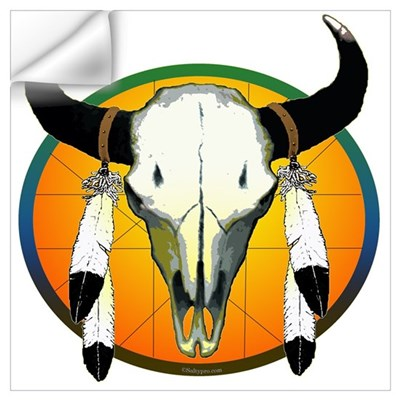 Buffalo skull Wall Decal
