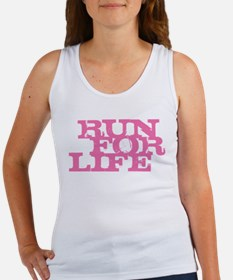 Run for Life Pink Women's Tank Top