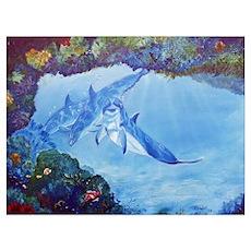 Dolphin Art Poster