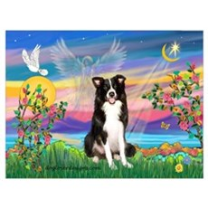 Guardian Angel / Border Collie Poster