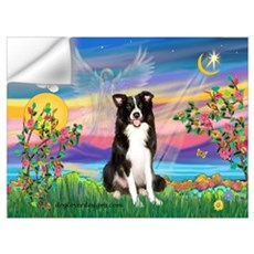 Guardian Angel / Border Collie Wall Decal