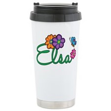 Elsa Flowers Travel Mug