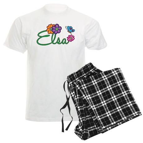 Elsa Flowers Men's Light Pajamas