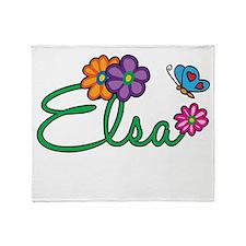 Elsa Flowers Throw Blanket