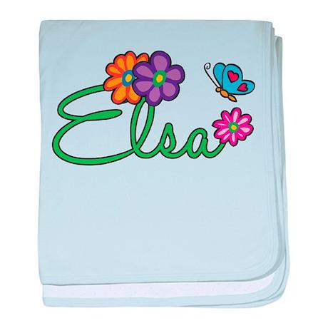 Elsa Flowers baby blanket