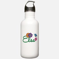 Elsa Flowers Water Bottle
