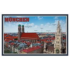 Munich Cityscape Poster