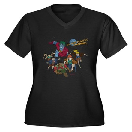 By Our Powers Combined Womens Plus Size V-Neck Da