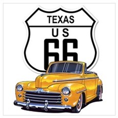 Texas Route 66 Poster