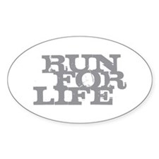Run for Life Gray Decal