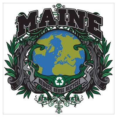 Maine Green Pride Framed Print