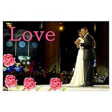 Barack & Michelle Love Poster