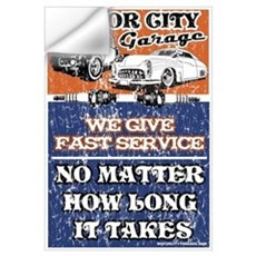 MOTOR CITY GARAGE 2 Wall Decal