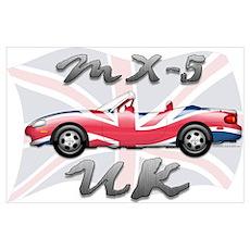 MX-5 UK MK II Poster