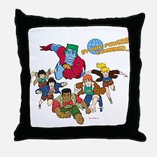 Captain Planet Powers Throw Pillow