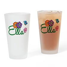 Ella Flowers Drinking Glass