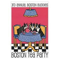 Boston Buddies Boston Tea Par Canvas Art