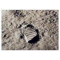 Apollo 11 Bootprint Poster