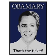 Obama Clinton Ticket Poster