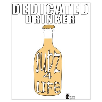 DEDICATED DRINKER Canvas Art