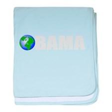 Obama for earth 2 baby blanket