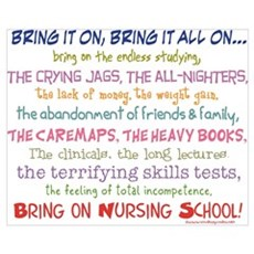 Bring on Nursing School! Framed Print