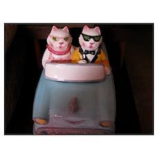 Cruising Cats Poster