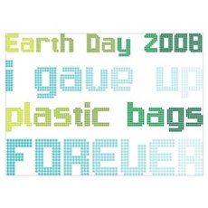 Earth Day 2008 Plastic Bags Poster