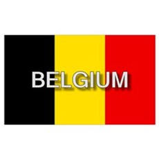 Belgium Flag with Label Poster