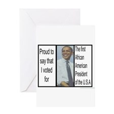 Obama Photo Greeting Card