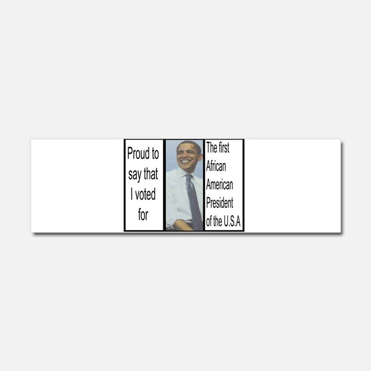 Obama Photo Car Magnet 10 x 3