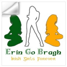 Irish Girls Forever Risque Wall Decal