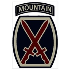 10th Mountain Division ACU Poster