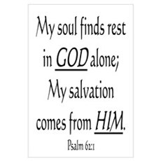 MY SOUL FINDS REST IN GOD ALO Framed Print