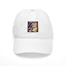 Golden Retriever USA Flag Hat