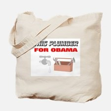 This plumber for Obama Tote Bag