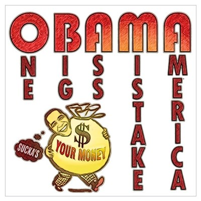 Obama one big ass mistake America Canvas Art