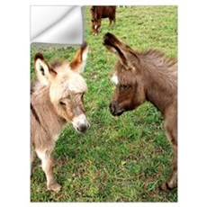 Two Baby Donkeys Wall Decal