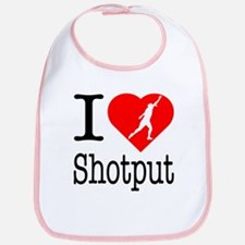 I Love Shotput Bib