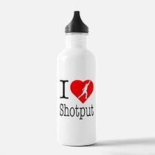 I Love Shotput Water Bottle