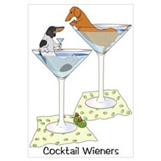 BT Piebald, Red Cocktail Wien Framed Print
