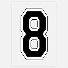 Varsity Font Number 8 Black
